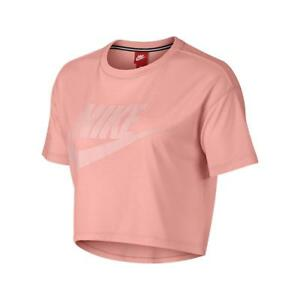 fa585a45a67 Image is loading Nike-Essential-Cropped-Women-039-s-Short-Sleeve-