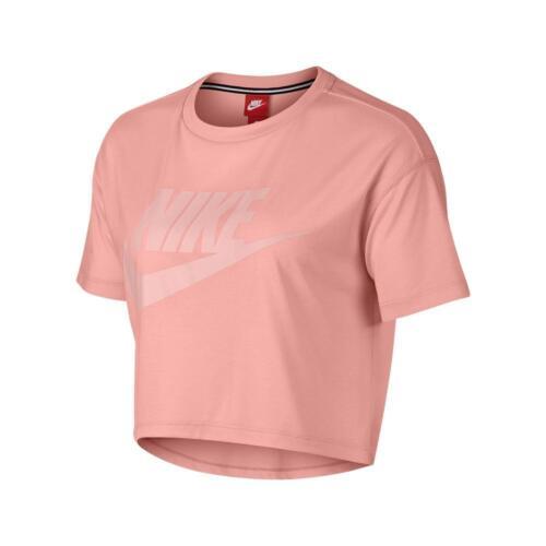 Nike Maniche Corte Bianco Essential Donna Rosa Corto M A Top rrqZX