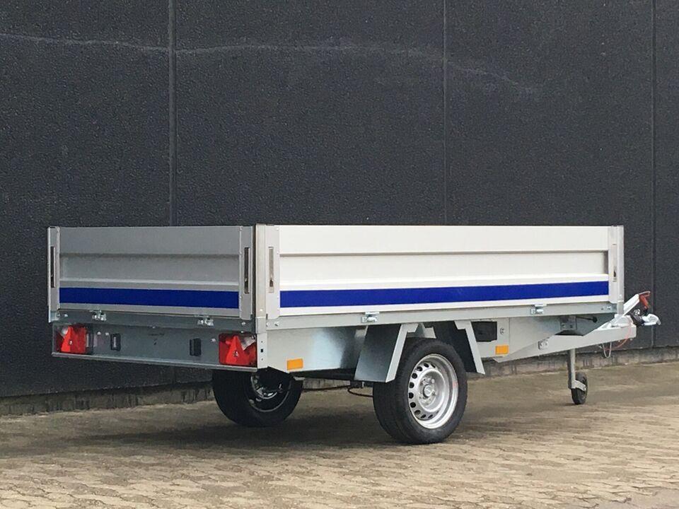 Billig trailer med bremser - 260 x 150 x 40 cm.