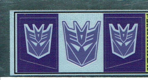 Transformers GENERATION 1 G1 Decepticon Shockwave REPRO Etichette//Adesivi