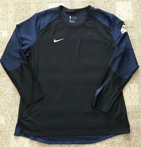 652abaed15eb Nike Dry Mens Long Sleeve NBA Finals Basketball Shirt Blue Size 2XL ...