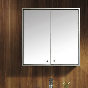 Double-door-Stainless-Steel-Wall-Mirror-Storage-Cupboard-Bathroom-Cabinet