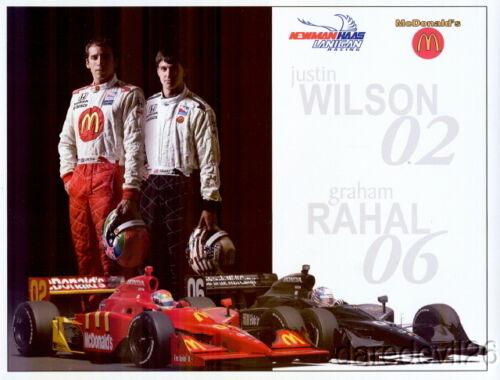 2008 Graham Rahal//Justin Wilson Newman Haas Racing Honda Indy Car postcard