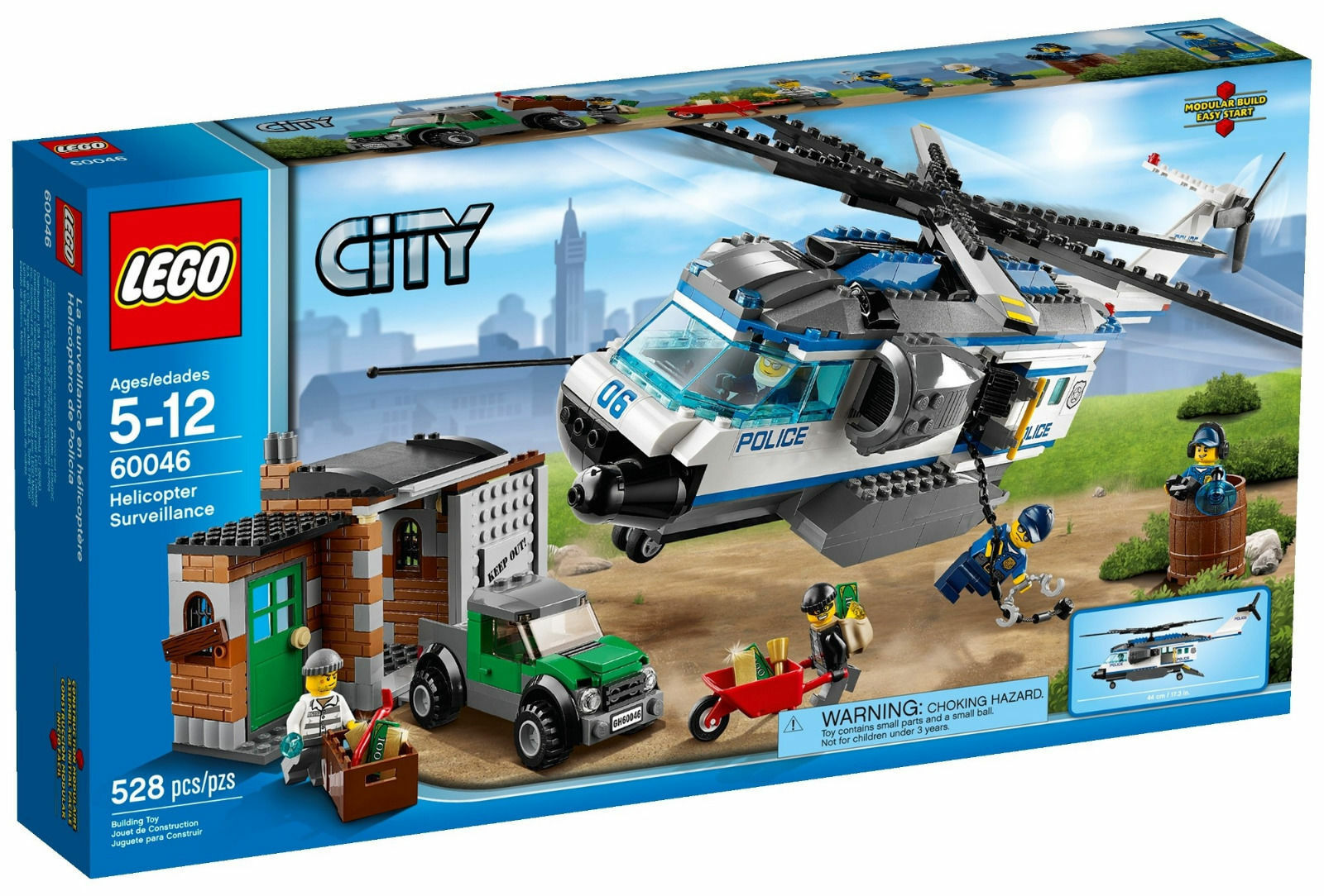 60046 HELICOPTER SURVEILLANCE lego NEW sealed legos set POLICE Stadt town
