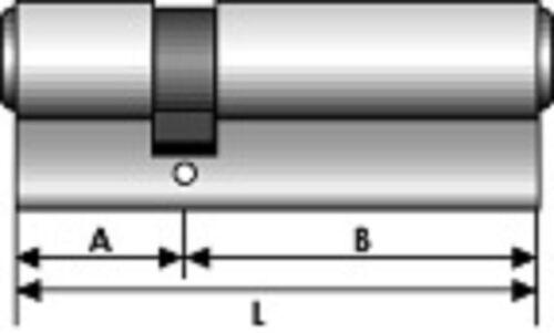 3 CYLINDRES SERRURE S/' ENTROUVRANT HAUTE SECURITE R6 ISEO DIMENSIONS AU CHOIX