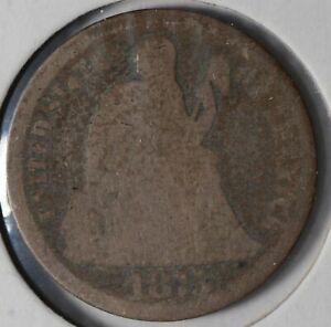 1873-Seated-Liberty-Dime-Good-Condition-176942