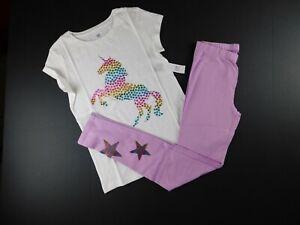 New Girls Children/'s Place White Lace Hem Full Length Leggings Size 4 Year NWT