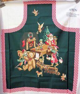 Hallmark Fabric Panel Santa Apron Sewing Craft Christmas ...
