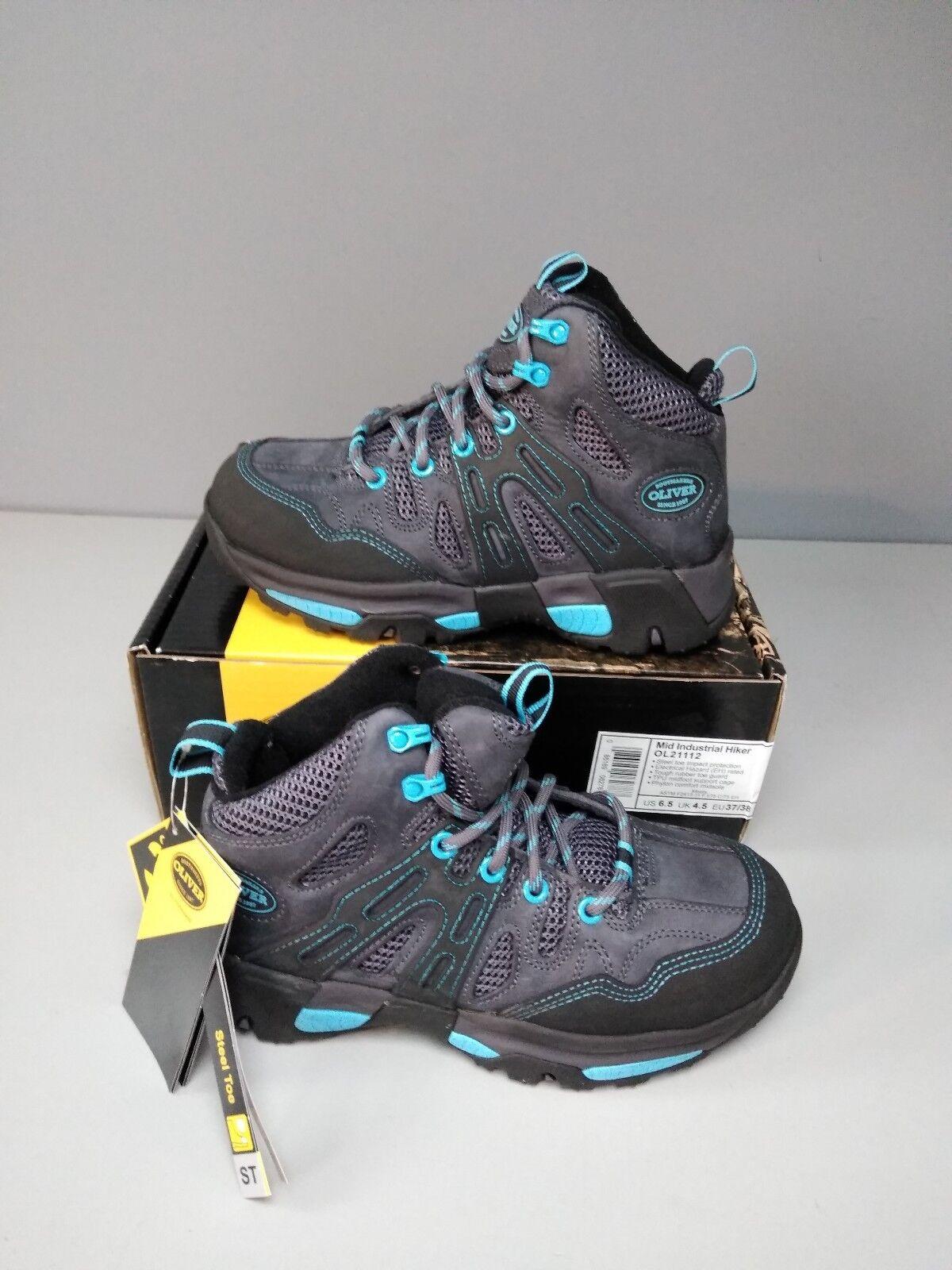 Oliver Women's Steel Toe Toe Toe Mid Industrial Hiker Boot (OL21112) - size 6.5 0769bc