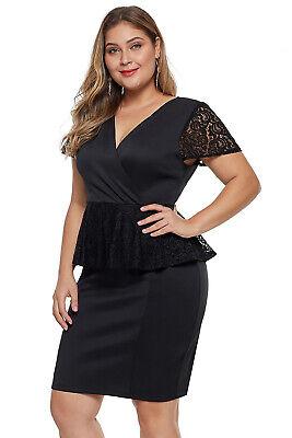 Elegant Lace Embellished Evening Plus Size Dress 14-20