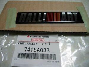 Genuine Mitsubishi Motors Ralliart Emblem 108x26mm Part# 7415A033 Made in Japan