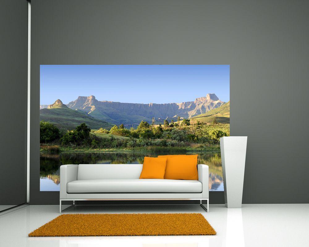 Fototapete - Drakensberg - Reflektion