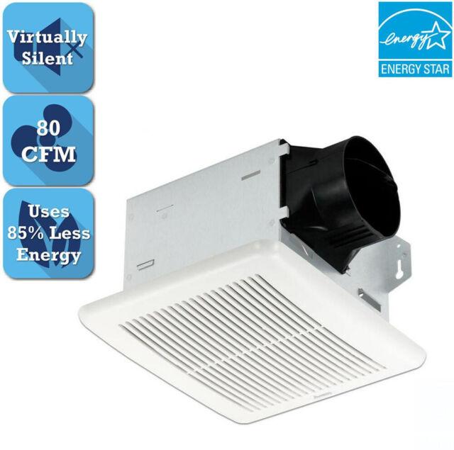 Delta Breez Bath Fan Integrity Series 80 CFM Ceiling Bathroom Exhaust Adjustable