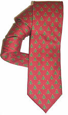 CHRISTMAS TREE TIE HOLIDAY STAR & BULBS ALLOVER NWT $49 MEN TIE RED GREEN X88