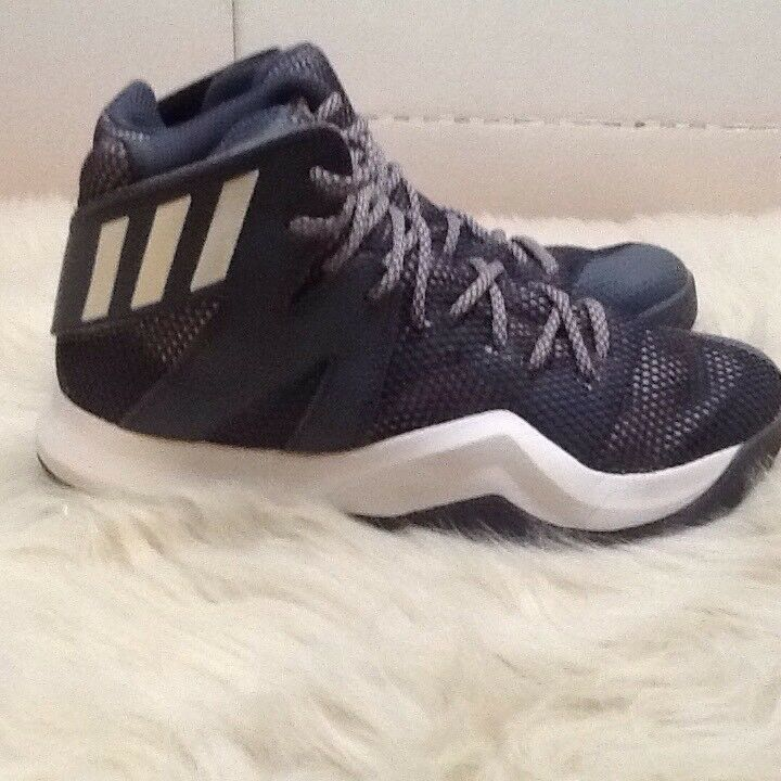 Adidas uomini pazzi rimbalzare trainer trainer rimbalzare dimensioni 6 grigio / bianco b72765 55b98f