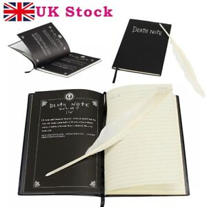 Death-Note-Book-Cosplay-Notebook-with-Quill-Feather-Pen-Stock-in-UK