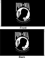 2x3 Powmia Pow Mia Prisoner Of War 2 Faced 2-ply Wind Resistant Flag Grommets