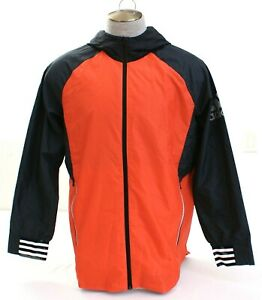 Adidas-ID-Woven-Windbreaker-Coral-Zip-Front-Hooded-Shell-Jacket-Men-039-s-NWT