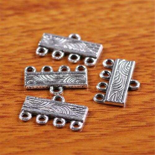 Linker Silver charm Connector 1 to 4//5//7 DIY Jewelry For Bracelet Necklace 7304
