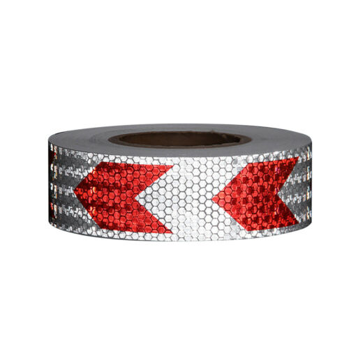 3M Reflective Warning Tape Strip Fluorescent Road Safety Sticker Arrow Mark Tape