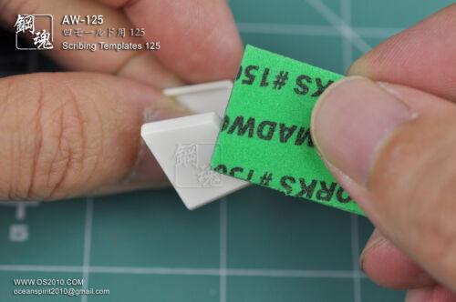Photo-Etched PE Gundam Scribing Templates AW-125