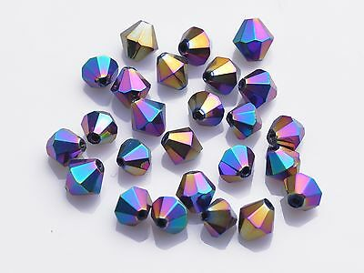 Wholesale 500pcs 4mm Crystal Glass Faceted Loose Bicone Beads SW 5301