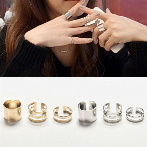 Fashion 3Pcs//Set Fashion Top Of Finger Adjustable Open Ring Jewelry Gift VGCA