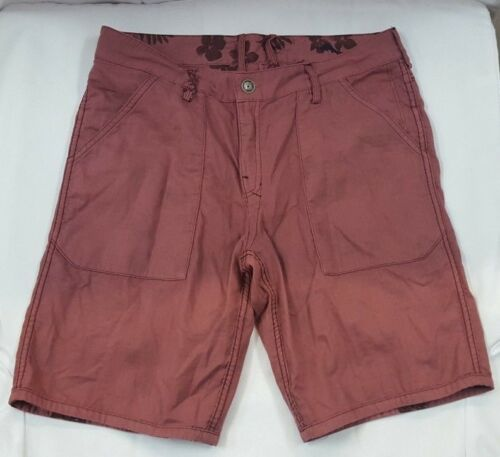 Men/'s Tommy Bahama Brooklyn Double Reversible Shorts Red Floral Size 32 33 34 38