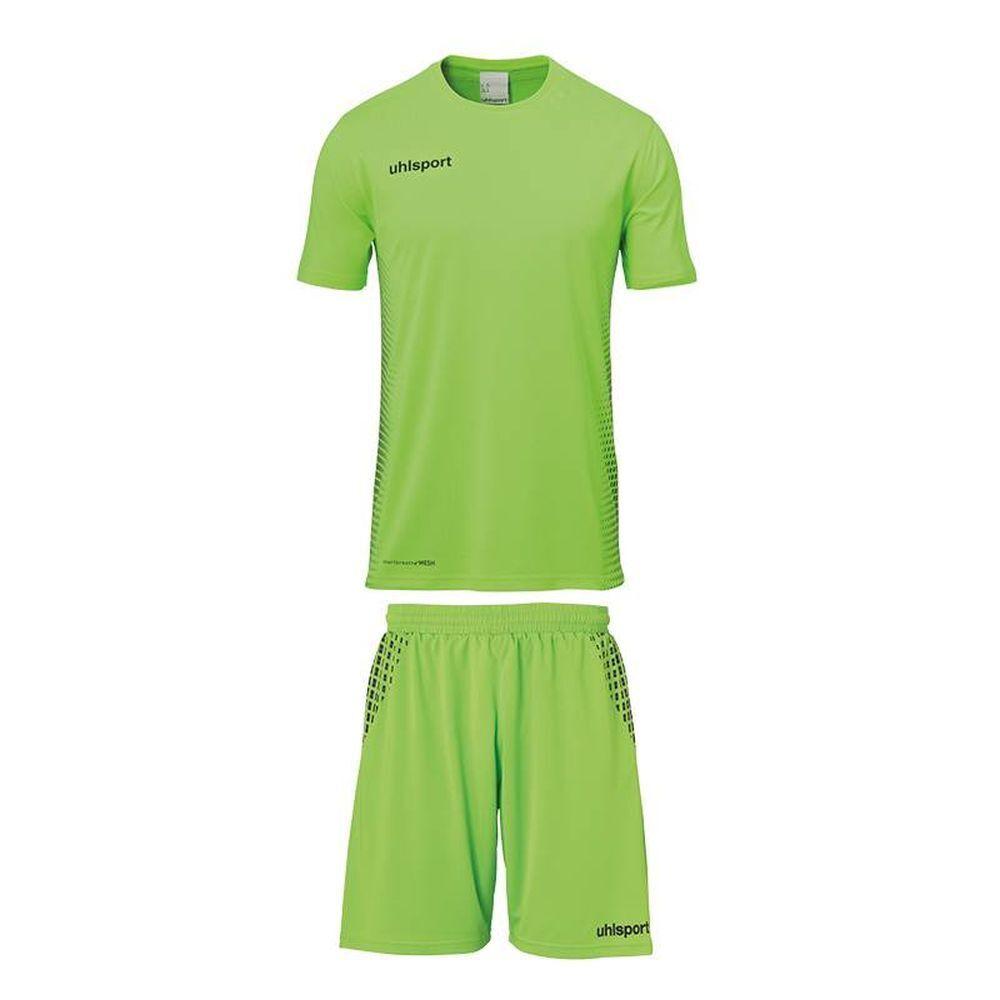 Uhlsport Kids Football Soccer Full Set Kit Short Sleeve Jersey Shirt Top Shorts