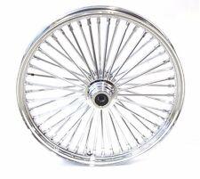 48 King Spoke Fat 23 X 3.5 Front Wheel Rim 2000-2007 Touring Chrome Single Disc