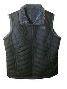 The-North-Face-Women-s-Insulated-Reversible-Vest-Blue-Size-Medium