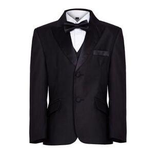 Details About Boys Finest Black Tuxedo Boys Dinner Suit James Bond Suit 1 16 Years