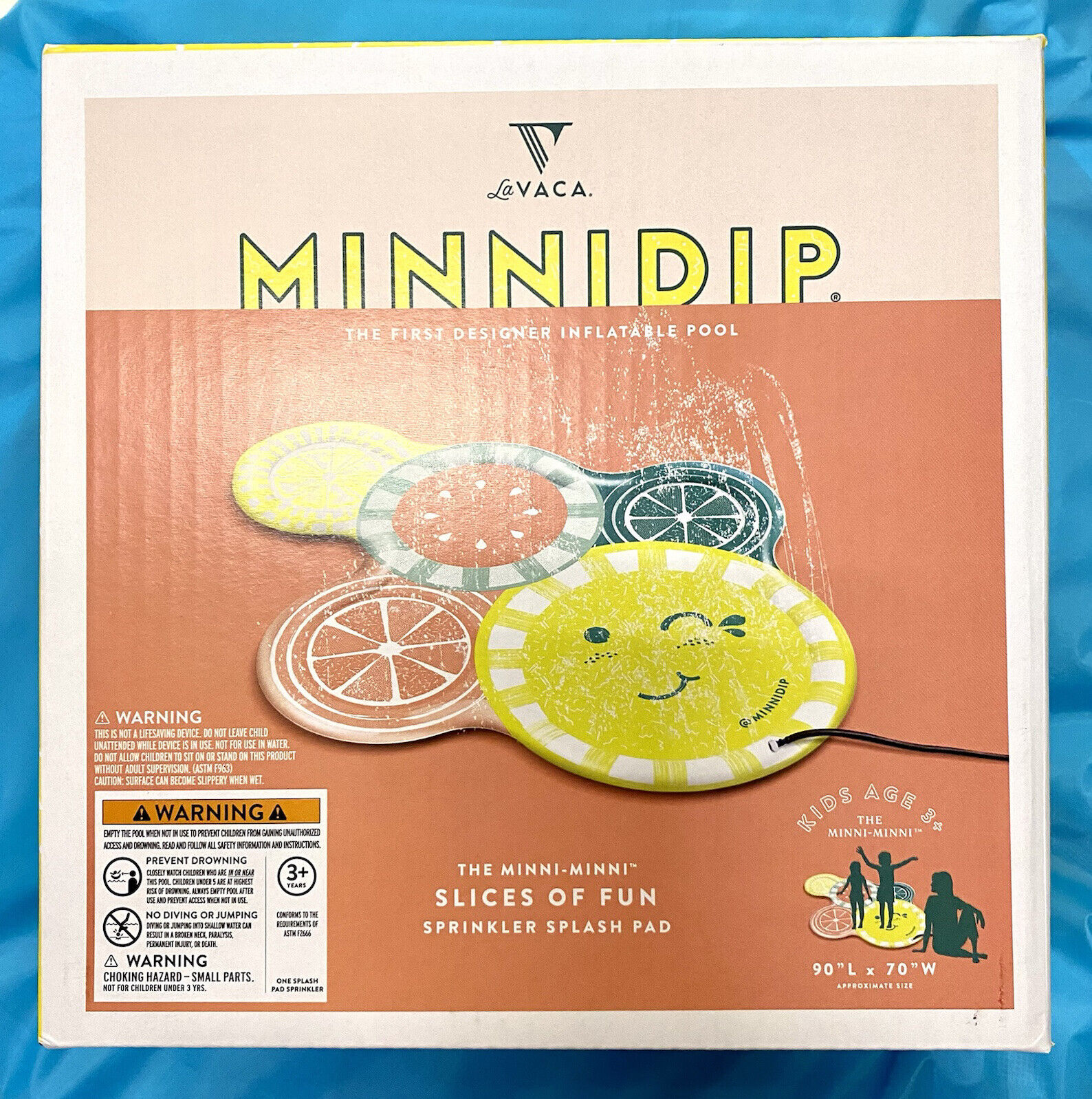 Minnidip The Slice Of Fun Sprinkler Splash Pad Pool Kids Summer La Vaca New