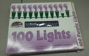 Xmas-Christmas-Holiday-Decor-Mini-String-Lights-Indoor-Outdoor-34-Feet-Purple