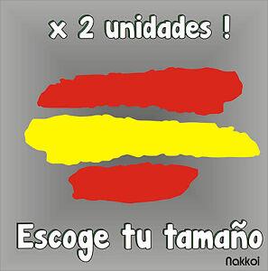 Sticker-BANDERA-DE-ESPANA-Vinyl-Car-Tunnig-Pegatina-Coche-Moto