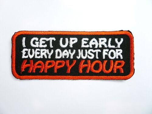 tonaca Patch Biker Happy hour.. ricamate badge aufbügler