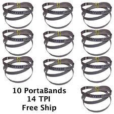 "10 Cobalt Portable Bandsaw Blades 14 TPI Portaband 44-7/8"" long Starrett Brand"