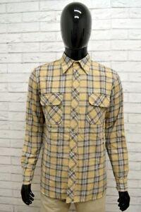 Camicia-GAS-Uomo-Taglia-Size-L-Maglia-Man-Shirt-Chemise-Shirt-Cotone-A-Quadretti