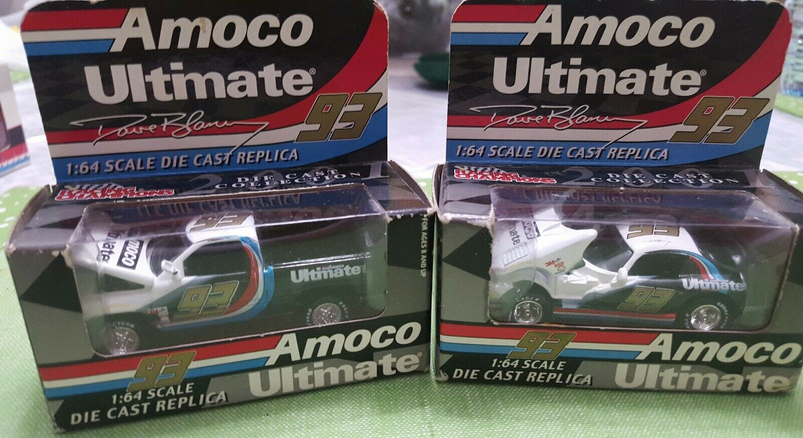 AMOCO ULTIMATE DIE CAST CARS 1 64 SET OF 2, RACING CHAMPIONS, VINTAGE, NEW