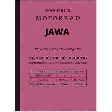 Jawa 125 175 ccm Type 355 356 Bedienungsanleitung Handbuch Betriebsanleitung CZ