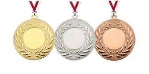 24 Medaillen D111 d=50mm (freie Farbkombination) mit Emblem & Band 22,95 EUR