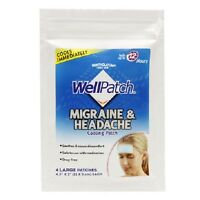 Wellpatch Migraine & Headache Cooling Patch 4 Large Patches Lasts 12 Hours