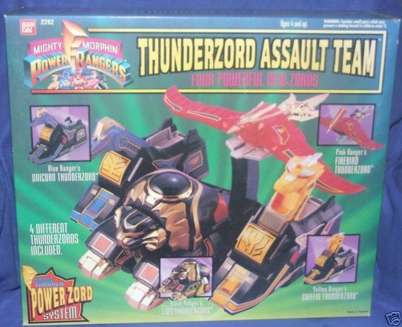 Mighty Morphin Power Rangers Thunderzord Assault Team Factory Sealed 1994