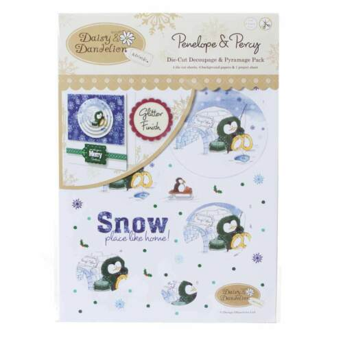 Snow Place Like Home A4 Decoupage Pack Penelope /& Percy