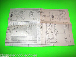 SPOT-LITE-By-BALLY-1951-ORIGINAL-BINGO-PINBALL-MACHINE-WIRING-DIAGRAM-SCHEMATIC