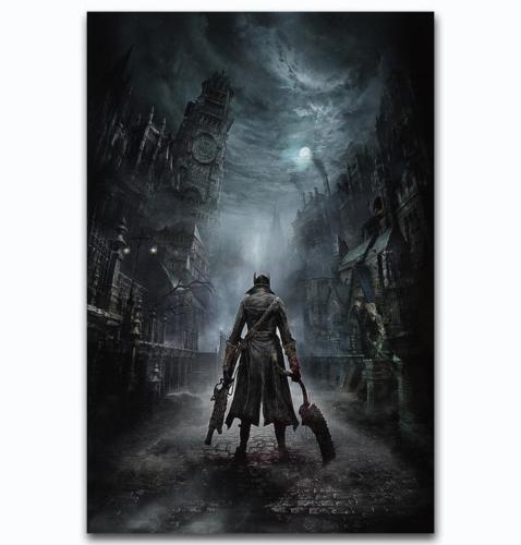 "Game Classic Bloodborne Movie Poster Silk Print 13x20/"" 20x30/"" 24x36/"""