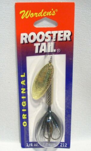 Wordens 1//4 oz Mayfly Original Rooster Tail Fishing Lure Spinner Crainkbait