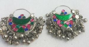 Afghan-Kuchi-Earrings-Crescent-Tribal-Jewelry-Bohemian-Ethnic-Hippie-Boho-Gypsy