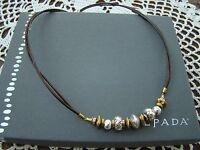 Silpada Sterling Silver, Brass, Leather treasured Trinkets Necklace N3237