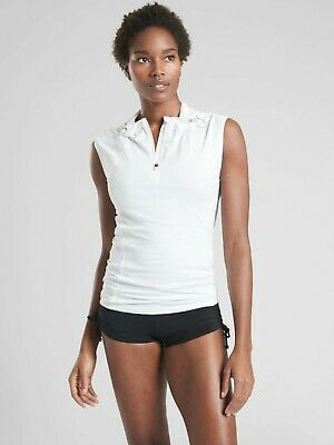 Athleta NWT Women/'s Pacifica Contoured Tank Size Small Color White